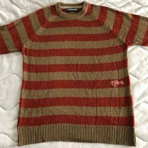 Beige & Red Billabong Crewneck Sweater Size Medium
